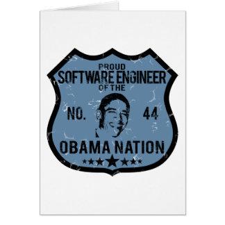 Nación de Obama de la Software Engineer Tarjeta De Felicitación