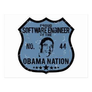 Nación de Obama de la Software Engineer Tarjetas Postales