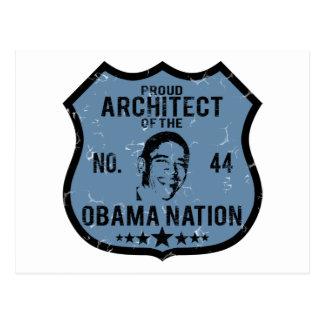 Nación de Obama del arquitecto Postal