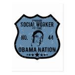 Nación de Obama del asistente social Postal