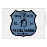 Nación de Obama del asistente social Tarjetas