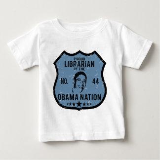 Nación de Obama del bibliotecario Playera Para Bebé