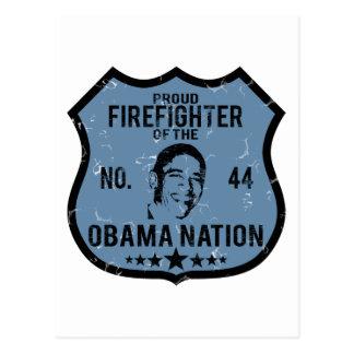 Nación de Obama del bombero Tarjetas Postales