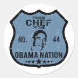 Nación de Obama del cocinero Etiqueta Redonda