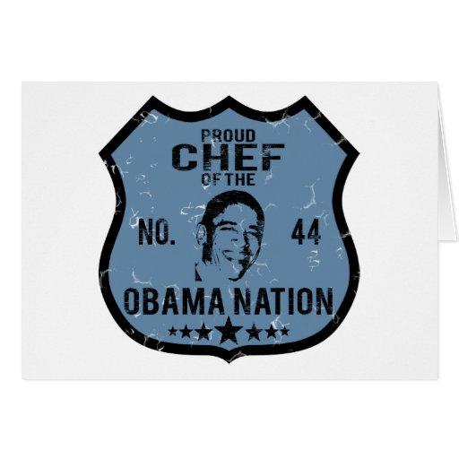 Nación de Obama del cocinero Felicitación
