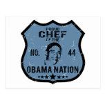 Nación de Obama del cocinero Postal