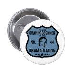 Nación de Obama del diseñador gráfico Pin
