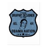 Nación de Obama del diseñador gráfico Postal