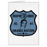 Nación de Obama del diseñador gráfico Tarjetas
