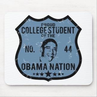 Nación de Obama del estudiante universitario Alfombrilla De Raton
