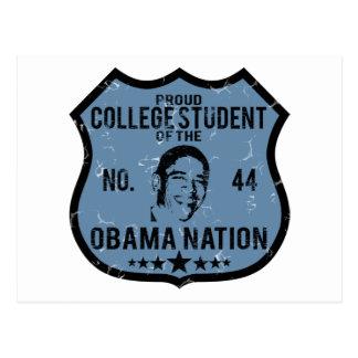 Nación de Obama del estudiante universitario Postales