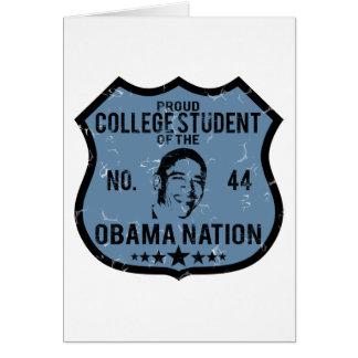 Nación de Obama del estudiante universitario Tarjeta