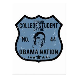 Nación de Obama del estudiante universitario Tarjetas Postales