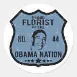 Nación de Obama del florista Pegatina Redonda