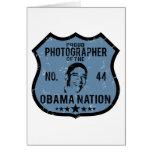 Nación de Obama del fotógrafo Felicitaciones