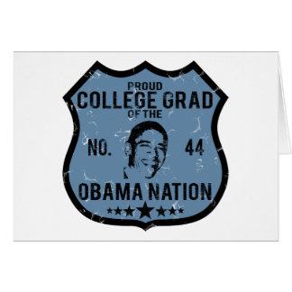 Nación de Obama del graduado de la universidad Felicitacion