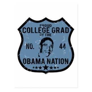 Nación de Obama del graduado de la universidad Postales