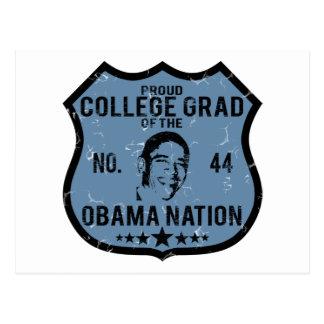 Nación de Obama del graduado de la universidad Tarjeta Postal
