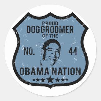Nación de Obama del Groomer del perro Etiqueta Redonda