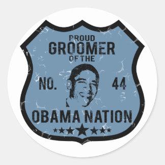 Nación de Obama del Groomer Etiquetas Redondas