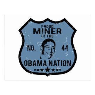 Nación de Obama del minero Postal