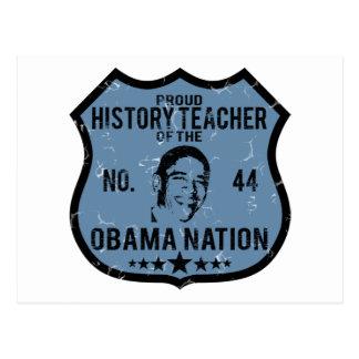 Nación de Obama del profesor de la historia Tarjetas Postales