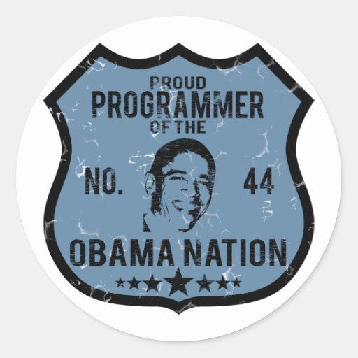 Nación de Obama del programador Etiqueta Redonda