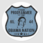 Nación de Obama del programador Pegatinas