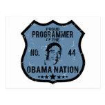 Nación de Obama del programador Postales