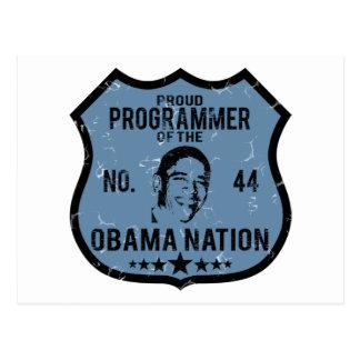 Nación de Obama del programador Tarjetas Postales