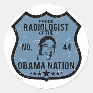 Nación de Obama del radiólogo Pegatina Redonda