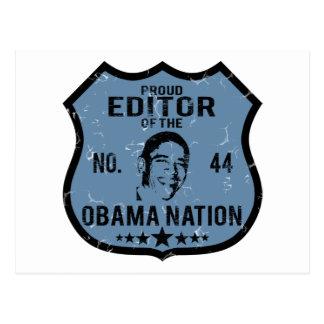 Nación de Obama del redactor Tarjetas Postales