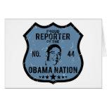 Nación de Obama del reportero Felicitacion