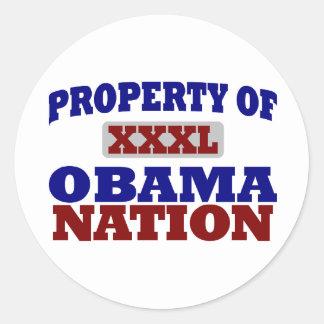 Nación de Obama Etiquetas Redondas