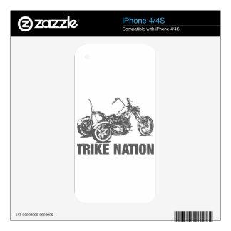 Nación de Trike Calcomanías Para iPhone 4S