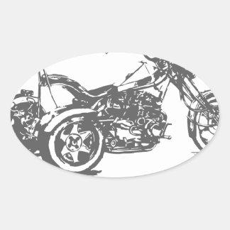 Nación de Trike Pegatina Ovalada