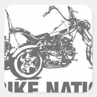 Nación de Trike Pegatina Cuadrada