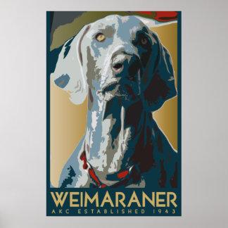Nación de Weimaraner: AKC Weimaraner Póster