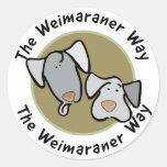 Nación de Weimaraner: La manera de Weimaraner Etiqueta Redonda