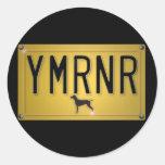 Nación de Weimaraner: Placa de YMRNR Pegatina