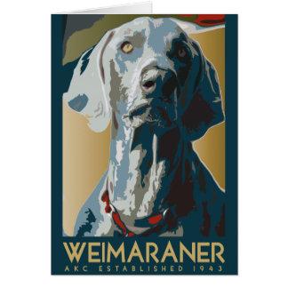 Nación de Weimaraner: Weimaraner 1943 Tarjeta De Felicitación
