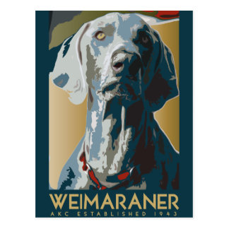Nación de Weimaraner Weimaraner 1943 Tarjeta Postal