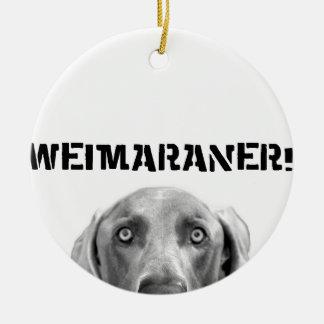 Nación de Weimaraner ¡Weimaraner en una caja Ornamentos Para Reyes Magos