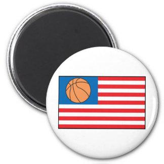 Nación del baloncesto imán redondo 5 cm