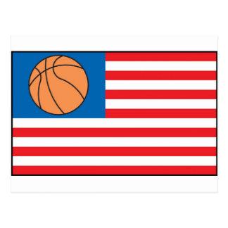 Nación del baloncesto tarjeta postal