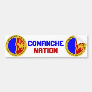 Nación del Comanche Pegatina Para Auto