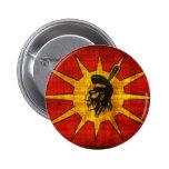 Nación del Mohawk Pin Redondo De 2 Pulgadas