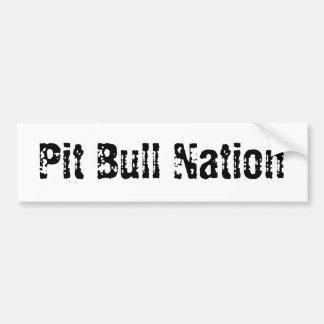 Nación del pitbull etiqueta de parachoque