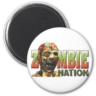 Nación del zombi imán redondo 5 cm