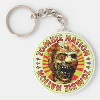 Nación del zombi llaveros personalizados